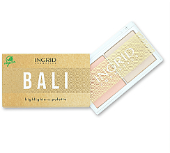 Духи, Парфюмерия, косметика Палитра хайлайтеров для лица - Ingrid Cosmetics Bali Highlighters Palette