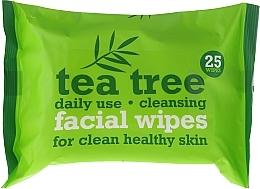 Духи, Парфюмерия, косметика Очищающие салфетки для лица 25шт - Xpel Marketing Ltd Tea Tree Facial Wipes For Clean Healthy Skin