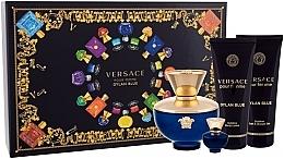 Духи, Парфюмерия, косметика Versace Pour Femme Dylan Blue - Набор (edp/100ml + edp/mini/5ml + sh/g/100ml + b/lot/100ml)