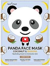 """Духи, Парфюмерия, косметика Тканевая маска для лица """"Панда"""" с экстрактом банана и кокоса - 7th Heaven Face Food Panda Face Mask Coconut & Banana"""