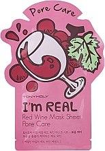 Духи, Парфюмерия, косметика Листовая маска для лица - Tony Moly I'm Real Red Wine Mask Sheet