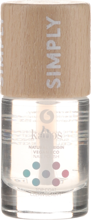 Закрепитель для лака - Kabos Simply Top Coat Clean Beauty Top Coat — фото N1