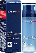 Духи, Парфюмерия, косметика Интенсивно увлажняющий лосьон для лица - Clarins Men Super Moisture Lotion SPF 20