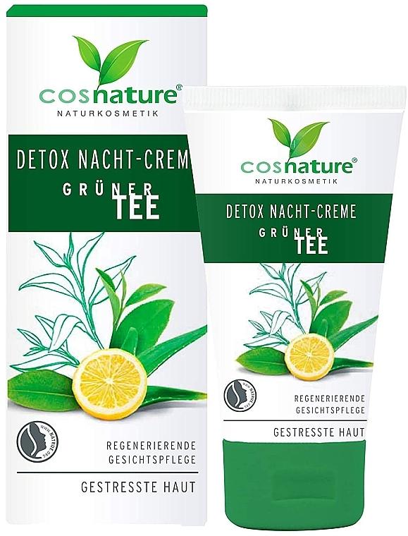"""Крем для лица, ночной """"Детокс"""" - Cosnature Night Cream Detox Green Tea — фото N1"""