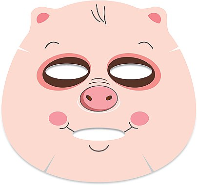 "Тканевая маска для лица ""Поросенок"" - Belleza Castillo Edge Cutimal Pig Anti-Wrinkle Mask — фото N3"