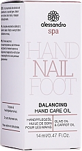 Духи, Парфюмерия, косметика Масло для ухода за руками - Alessandro International Balancing Hand Care Oil