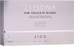 Духи, Парфюмерия, косметика Комплекс для лечения выпадения волос для мужчин 2100 - Labo Crescina Hair Follicular Island Re-Growth Anti-Hair Loss Complete Treatment 2100 Man