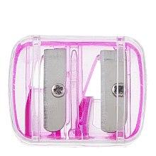 Духи, Парфюмерия, косметика Двойная цветная точилка для карандашей с крышкой, розовая - Top Choice