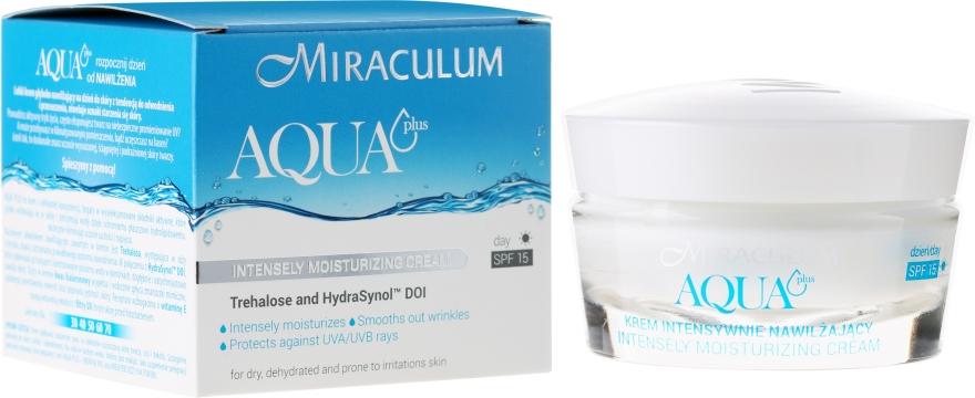 Дневной крем интенсивно увлажняющий от морщин - Miraculum Aqua Plus SPF 15 — фото N1