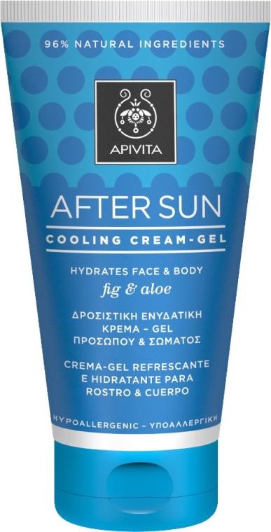 Охлаждающий и увлажняющий крем-гель для лица и тела с инжиром и алоэ - Apivita Sunbody After Sun Cooling Cream-Gel — фото N1