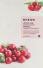 Духи, Парфюмерия, косметика Тканевая маска для лица с экстрактом барбадосской вишни - Mizon Joyful Time Essence Mask Acerola