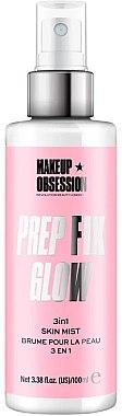 Спрей для фиксации, придающий сияние - Makeup Obsession Prep Fix Glow 3 in 1 Skin Mist — фото N1