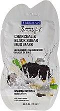 """Духи, Парфюмерия, косметика Маска грязевая для лица """"Уголь, Черный сахар"""" - Freeman Feeling Beautiful Charcoal & Black Sugar Mud Mask (мини)"""