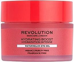 Духи, Парфюмерия, косметика Увлажняющий гель для кожи вокруг глаз с арбузом - Revolution Skincare Hydration Boost Watermelon Eye Gel