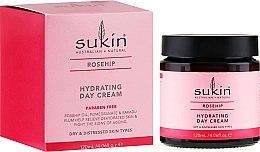 Духи, Парфюмерия, косметика Дневной увлажняющий крем для лица с маслом шиповника - Sukin Rose Hip Hydrating Day Cream