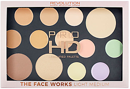 Духи, Парфюмерия, косметика Палетка для лица - Makeup Revolution Pro HD The Works Palette