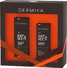 Духи, Парфюмерия, косметика Набор - Dermika 100% For Men (f/cr/50ml + eye/cr/15ml)