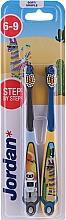 Духи, Парфюмерия, косметика Детская зубная щетка, 6-9 лет, с роботом и ламой - Jordan Step By Step Soft