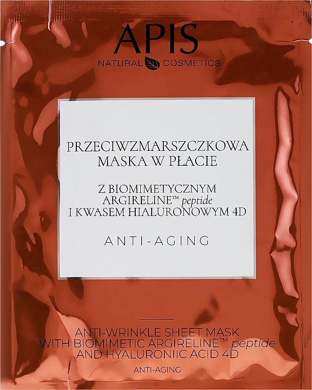 Тканевая маска для лица от морщин - APIS Professional Anti-Aging Anti-Wrinkle Sheet Mask — фото N1