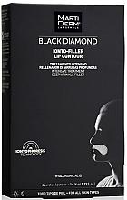 Духи, Парфюмерия, косметика Патчи для зоны вокруг губ - MartiDerm Black Diamond Ionto-Filler Lip Contour