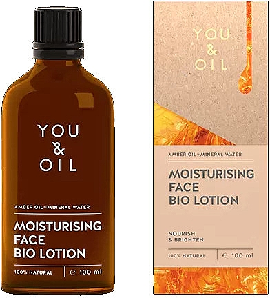 Биолосьон для лица - You & Oil Moisturising Face Bio Lotion Amber Oil+Mineral Water — фото N1