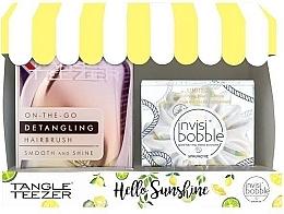 Духи, Парфюмерия, косметика Набор - Tangle Teezer Compact Styler Hello Sunshine Set (brush/1szt + hair/tie/1szt)