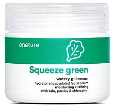Духи, Парфюмерия, косметика Гель-крем для лица - E-Nature Squeeze Green Watery Gel Cream Moisturizing + Refining