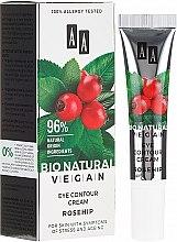 Духи, Парфюмерия, косметика Крем для век с шиповником - AA Cosmetics Bio Natural Vegan Eye Contour Cream Rosehip