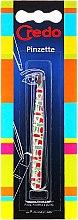 Духи, Парфюмерия, косметика Пинцет для бровей, скошенный, разноцветный узор, 9 см - Credo Solingen