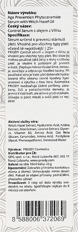 Сыворотка для лица - Priody Age Prevention Phytoceramide Serum — фото N3