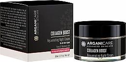 Духи, Парфюмерия, косметика Омолаживающий ночной крем для лица - Arganicare Collagen Boost Rejuvenating Night Cream