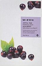 Духи, Парфюмерия, косметика Тканевая маска с экстрактом ягоды Асаи - Mizon Joyful Time Essence Mask Acai Berry