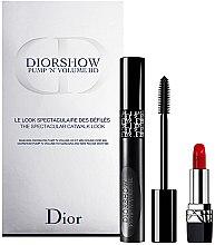 Духи, Парфюмерия, косметика Набор - Dior Diorshow Pump 'N' Volume Mascara & Lipstick Set (mascara/6ml+lipstick/1.5g)