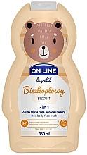 "Духи, Парфюмерия, косметика Средство для мытья волос тела и лица ""Бисквит"" - On Line Le Petit Biscuit 3 In 1 Hair Body Face Wash"