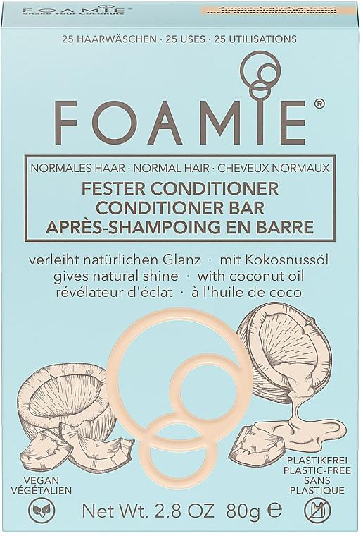 Твердый кондиционер для волос - Foamie Conditioner Bar with Coconut Oil — фото N2