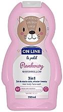 "Духи, Парфюмерия, косметика Средство для мытья волос тела и лица ""Маршмеллоу"" - On Line Le Petit Marshmallow 3 In 1 Hair Body Face Wash"
