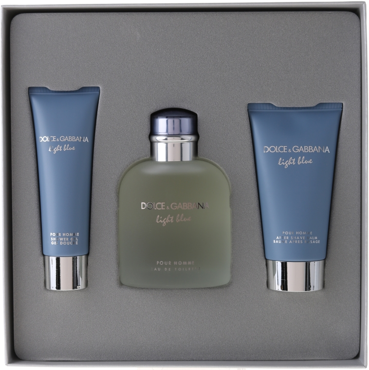 Dolce & Gabbana Light Blue pour Homme - Набор (edt 125 + sh/g 50 + a/sh balm 75) — фото N1