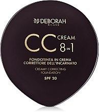 Духи, Парфюмерия, косметика Компактная крем-основа для лица 8в1 - Deborah 8-in-1 CC Cream Foundation Cream and Concealer