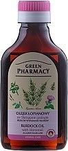 Духи, Парфюмерия, косметика Масло репейное с экстрактом хвоща против выпадения волос - Green Pharmacy