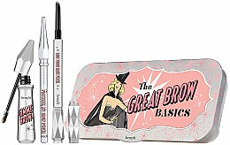 Духи, Парфюмерия, косметика Набор для бровей «Все в одном» - Benefit The Great Brow Basics (brow/gel/3g+brow/pencil/0.17g+brow/pencil/mini/0.04g) (02 - Light)