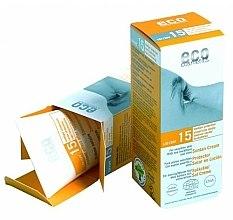 Духи, Парфюмерия, косметика Солнцезащитный крем SPF 15 с экстрактом граната и облепихи - Eco Cosmetics Suntan Cream SPF 15