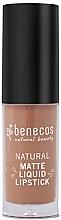 Духи, Парфюмерия, косметика Жидкая матовая помада для губ - Benecos Natural Matte Liquid Lipstick