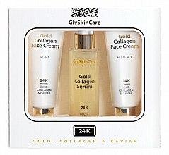 Духи, Парфюмерия, косметика Набор - GlySkinCare Gold Collagen (cr/2x50ml + serum/50ml)