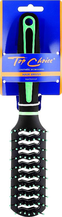 """Щетка для волос """"Neon"""", 63664, черная с зеленым - Top Choice — фото N1"""