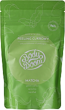 Духи, Парфюмерия, косметика Антицеллюлитный сахарный скраб для тела с матча - BodyBoom Body Scrub