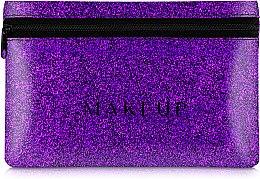"""Духи, Парфюмерия, косметика Косметичка силиконовая, фиолетовая """"Glitter Pouch"""", 18х11см - MakeUp"""
