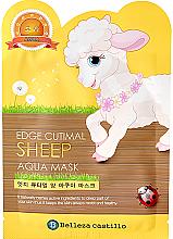 "Духи, Парфюмерия, косметика Тканевая маска для лица ""Овечка"" - Belleza Castillo Edge Cutimal Sheep Anti-Wrinkle Mask"