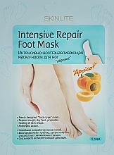 "Духи, Парфюмерия, косметика Маска-носки для ног интенсивно-восстанавливающая ""Абрикос"" - Skinlite Intensive Repair Foot Mask"