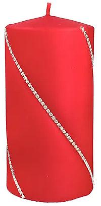 Декоративная свеча красная, 7х10см - Artman Bolero — фото N1