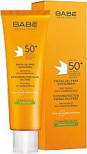 Духи, Парфюмерия, косметика Солнцезащитный крем для жирной кожи лица SPF 50+ - Babe Laboratorios Fotoprotector Facial Sunscreen